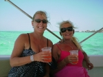 Michelle and Maureen enjoying rum punch