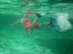 Snorkeling turquoise waters at Hol Chan Marine Reserve