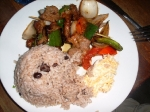 Pork with rice and beans