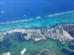 Ambergris Caye island aerial view