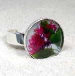 Pink flower ring $25 USD