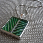 Tropical leaf necklace $30 USD