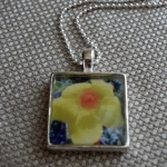 Yellow flower necklace $30 USD