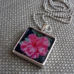 Pink flower necklace $30 USD