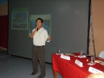 Mike doing presentation on the upcoming new Belize Hotel Association website