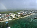 View on flight from Ambergris Caye to Belize City