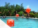 Breakfast pool party