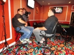 ESPN doing interviews at the Princess poker room