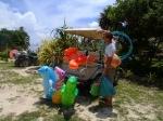 Unloading cart