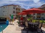 Pool side at Grand Caribe