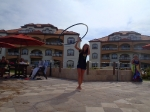 Emily doing hula hoop show