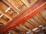 Natural wood beams