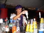 Jeanie serving up beer