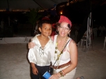 Teacher Lisa and a young pirate