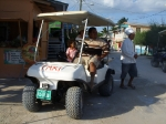 Taxi ride around Caye Caulker