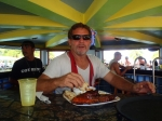 Johnathan takes on the massive belize steak