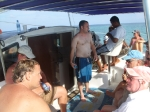 Heading to Hol Chan on the Seaduced Catamaran