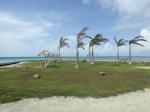 Belize Beach side palapas