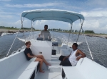 Heading to Royal Belize by boat