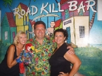 Posing with Joey & Bob at Roadkill Bar