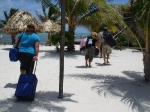 Beach front at Exotic Caye