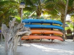 Free kayaks for guests