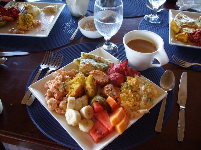 Plate full of food