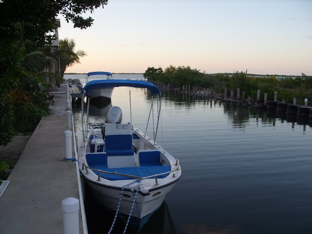 Lagoon side of Ambergris Caye