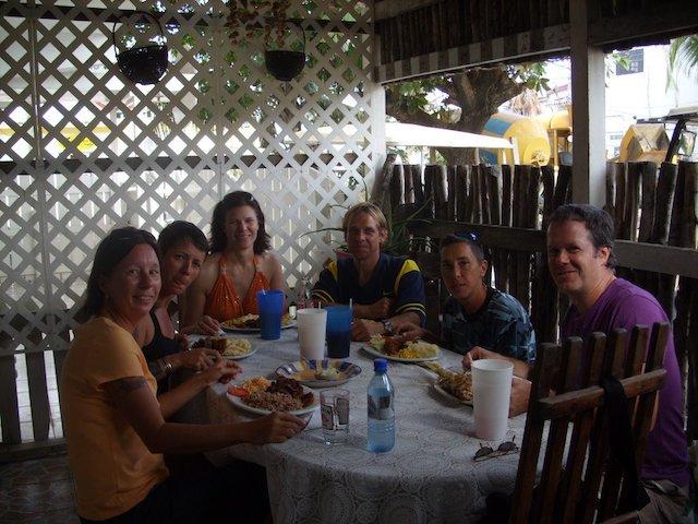 Having lunch at El Fogon