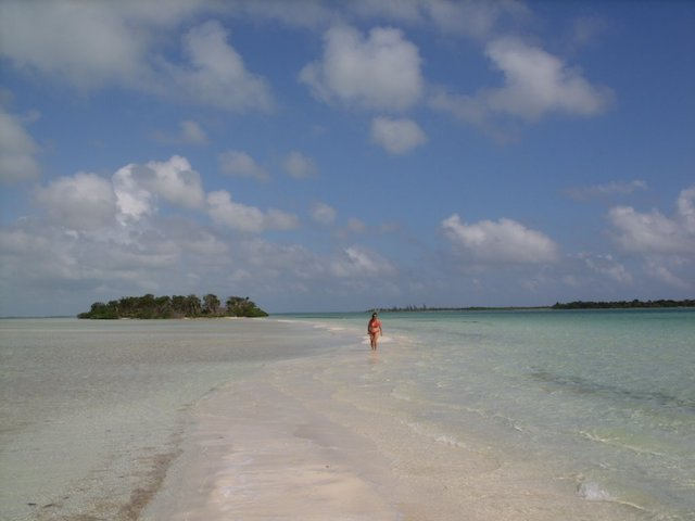 Sand bar on Ambergris Caye