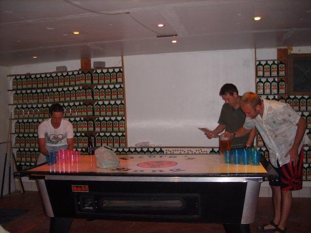 Beer pong at Pedro's