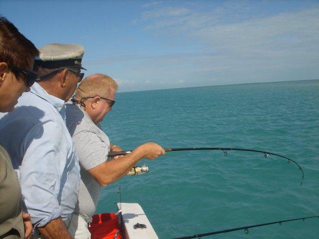 Fishing around Ambergris Caye