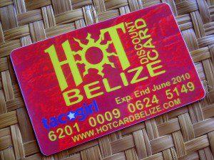 Hot Belize discount card