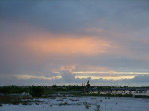 Sunset lagoog side san pedro