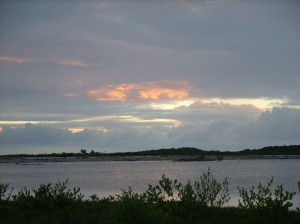 Sunset lagoon side San Pedro