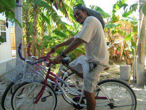 Walter testing the new bikes