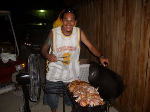 Walter cooking more bbq