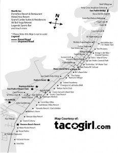 map of san pedro belize