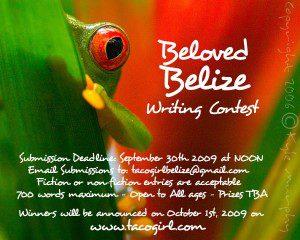 Beloved Belize Writing Contest