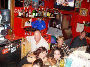 Hiding behind the bar