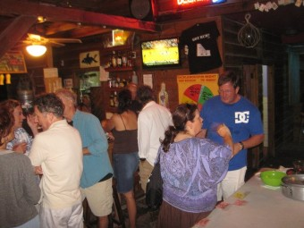 Saga Everything Italian cook off fundraiser at Tacklebox Bar and Grill San Pedro Belize