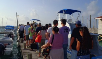 San Pedro Belize Express water taxi to Belize City