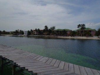 view from banyan bay dock of  grand colony belize, banana beach resort, mata rocks, the palms
