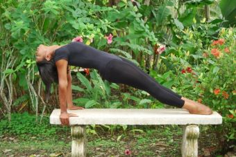Ashanti Garcia Airbender  doing yoga in belize