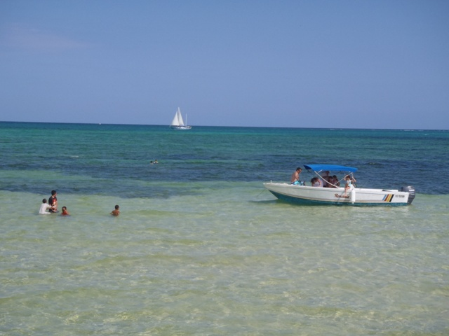 swimming boat