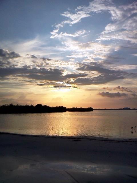 san pedro belize sunset