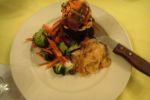 lobster dinner at banana beach belize