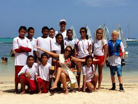 San Pedro Sailing team with Miss Mexico 2012