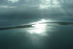 Caye Caulker aerial view from a maya air charter