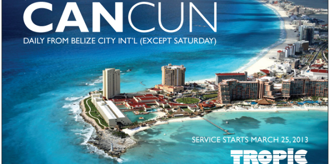Belize City to Cancun and Tropic Air adds extra flights to Orangewalk